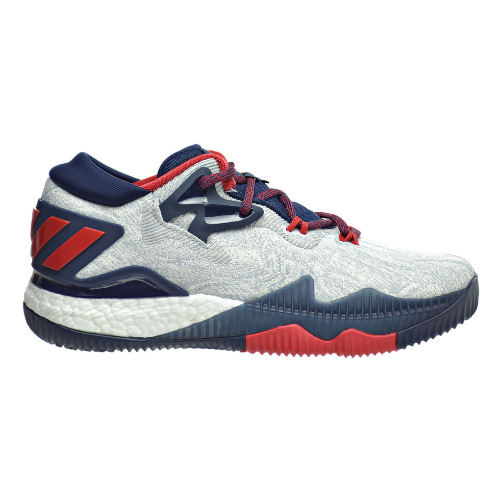 Adidas Crazylight Boost Low Big Kid's Shoes White/Scarlet/Collegiate Navy