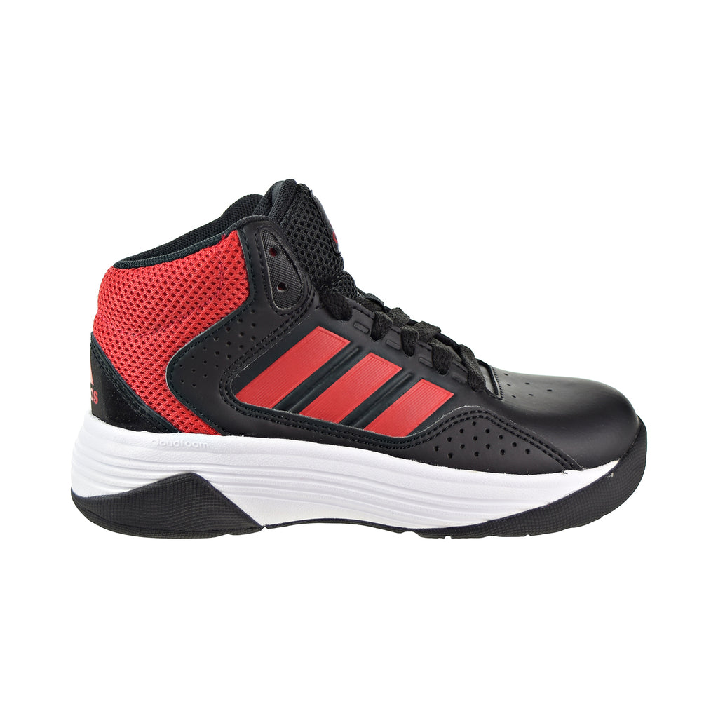 Adidas Cloudfoam Ilation Mid K Big Kids/Little Kids Shoes Black/Red/White