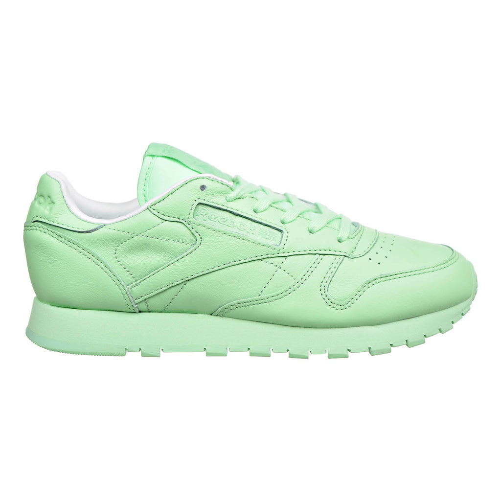 Reebok Classic Leather Pastels Womens Shoes Mint Green/White