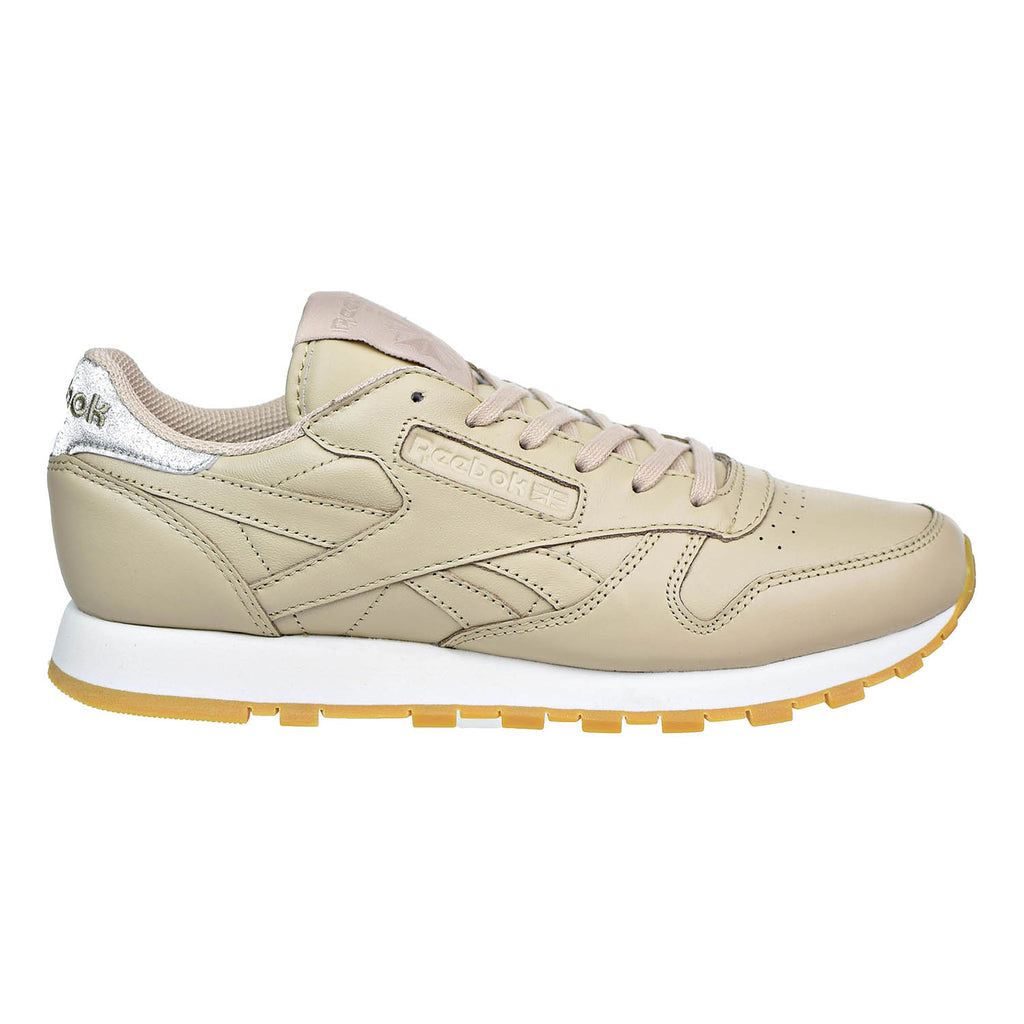 Reebok Classic Leather Met Diamond Womens Shoes Oat Meal/Chalk/Gum
