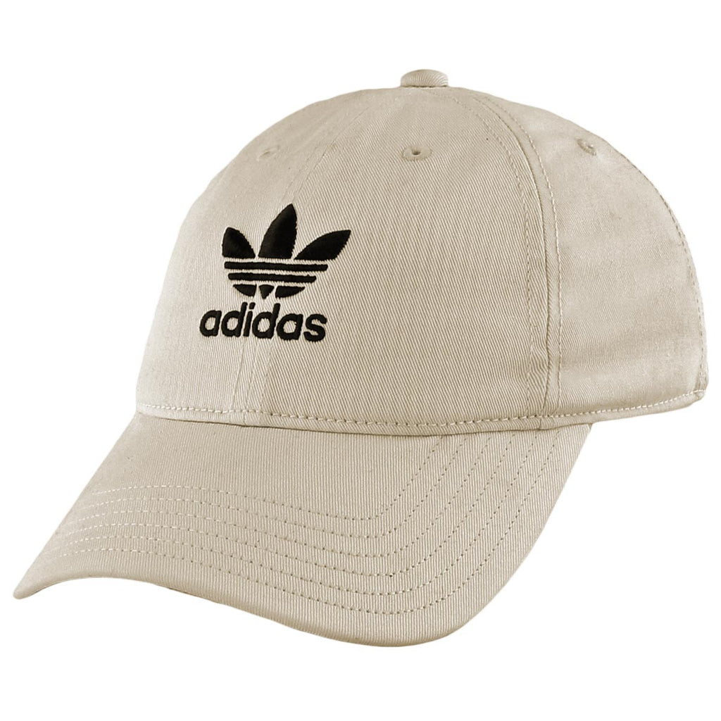 Adidas Originals Relaxed Men s Strapback Hat Cap Khaki Black – rbdoutlet d090cc9454f