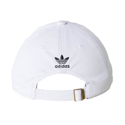 7adc1f22 ... low price adidas originals precurved washed mens strapback hat cap  white black 21587 3d873