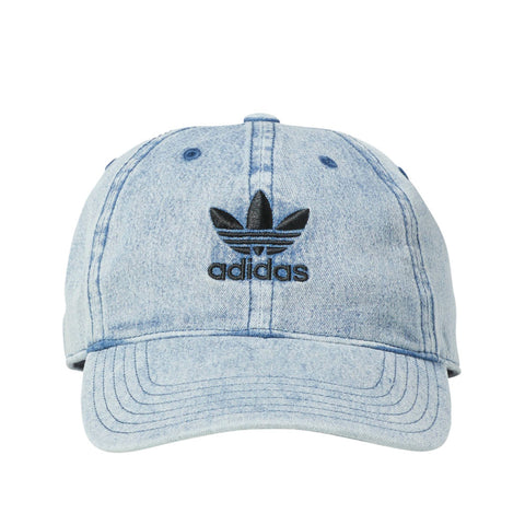 Adidas Originals Relaxed Denim Men s Strapback Hat Cap Washed Blue Black d2479dd6ad2