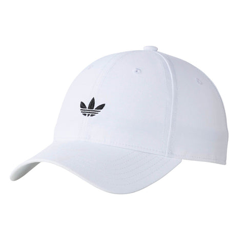 b46726417eb Adidas Originals Relaxed Modern Curved Brim Men s Strapback Hat White Black