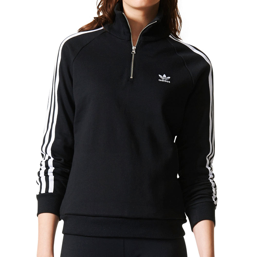 Adidas Originals Trefoil Half Zip Women's Sweatshirt Black/White