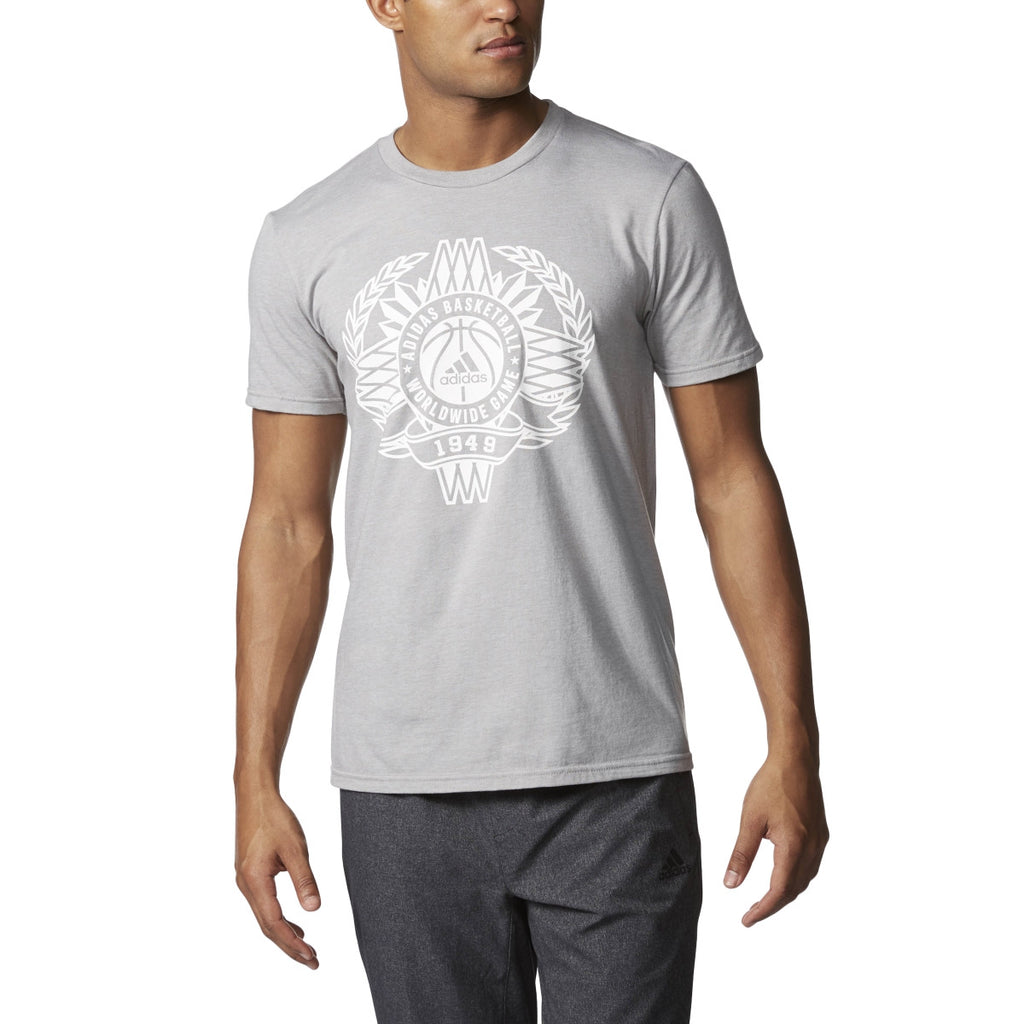 Adidas Originals Global Game Men's Short Sleeve T-Shirt Grey/White