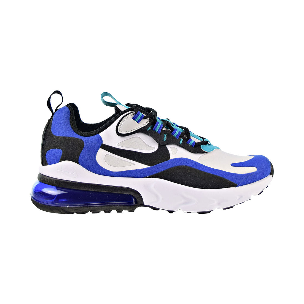 Nike Air Max 270 React Big Kids' Shoes White-Black-Hyper Blue