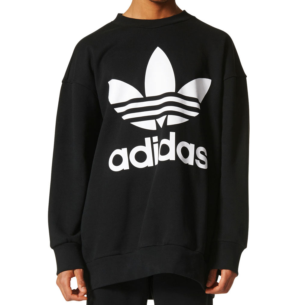 Adidas Originals Trefoil Men's Crew Neck Sweatshirt Black/White