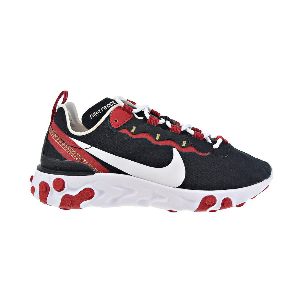Nike React Element 55 Women's Shoes Black-White-Gym Red