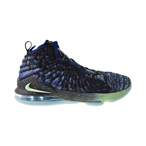 Nike LeBron XVII 'Constellations' Big Kids' Shoes Deep Royal Blue-Vapor Green
