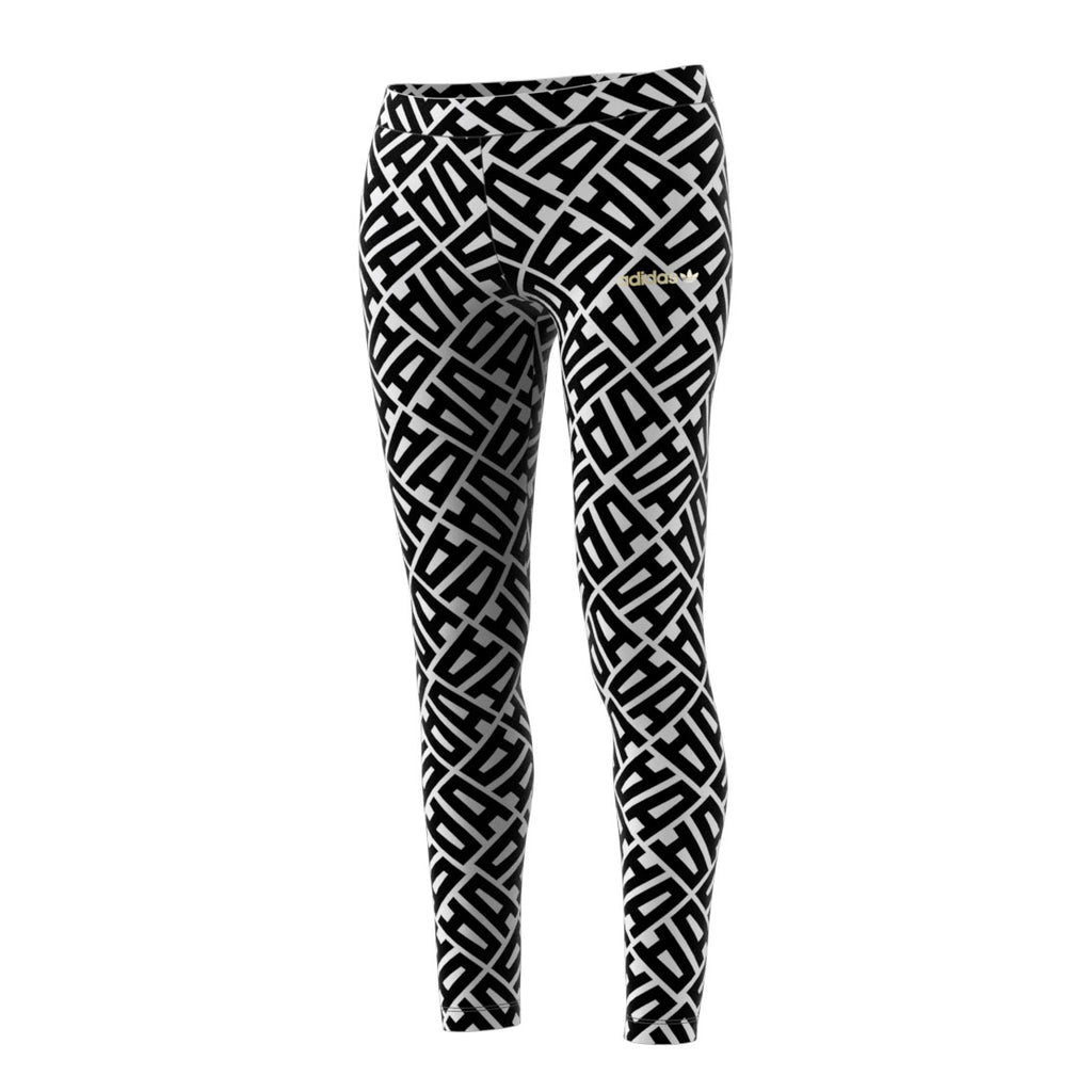 Adidas Originals All Over Print Women's Leggings Black/White
