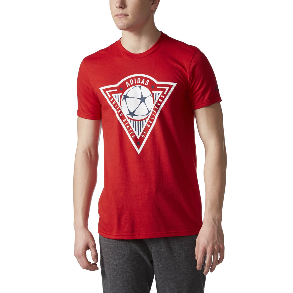 Adidas Originals United States Of Believers Men's T-Shirt Red/White