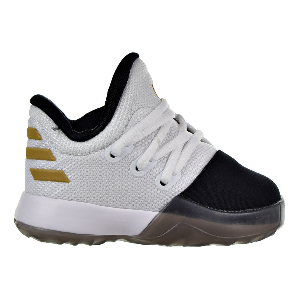 Adidas Harden Vol.1 I Toddler's Shoes White/Black/Metallic Gold