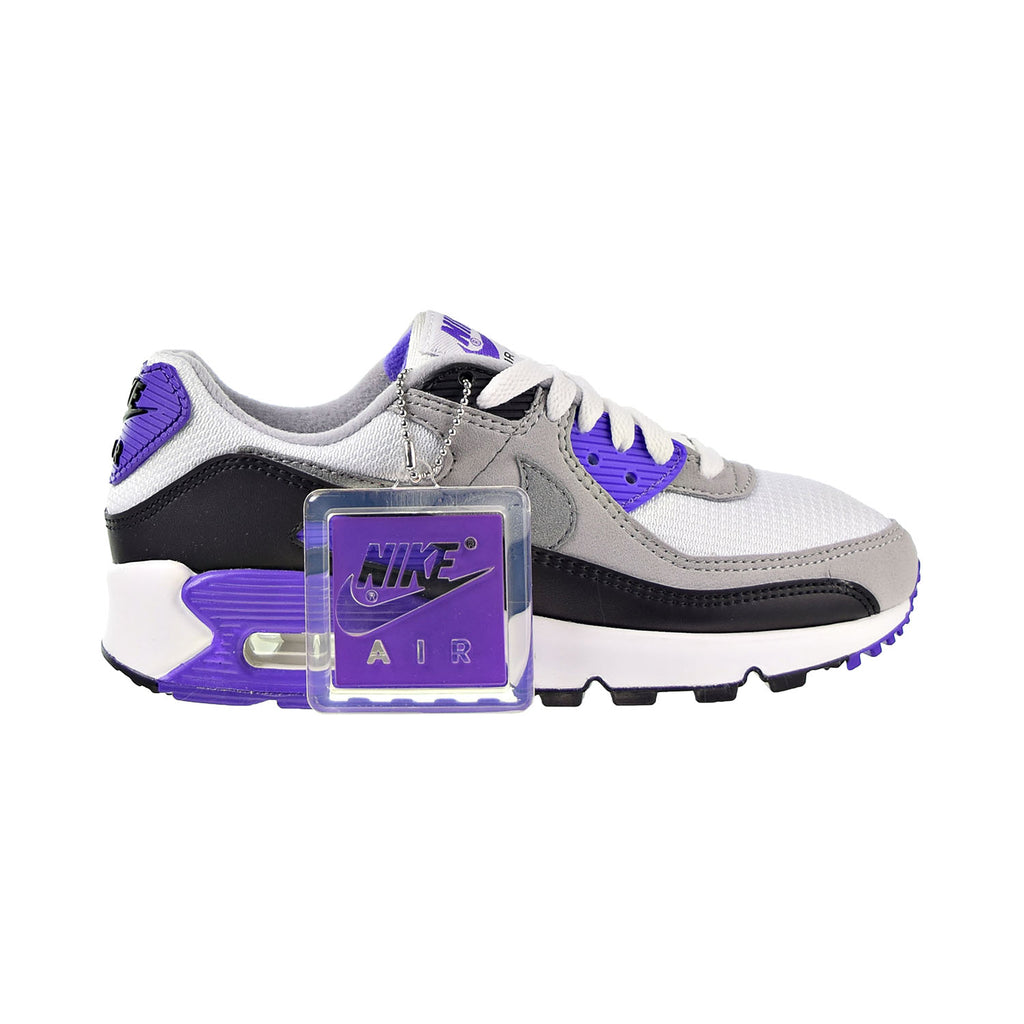 Nike Air Max 90 Women's Shoes White-Particle Grey-Purple