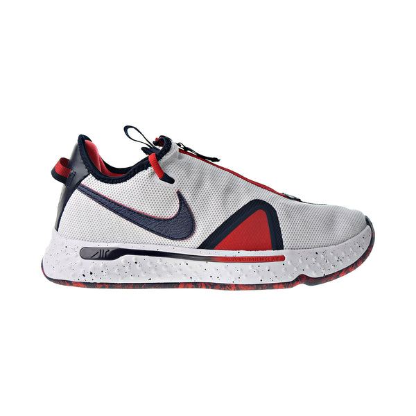 Nike PG 4 Men's Basketball Shoes White-Obsidian-University Red
