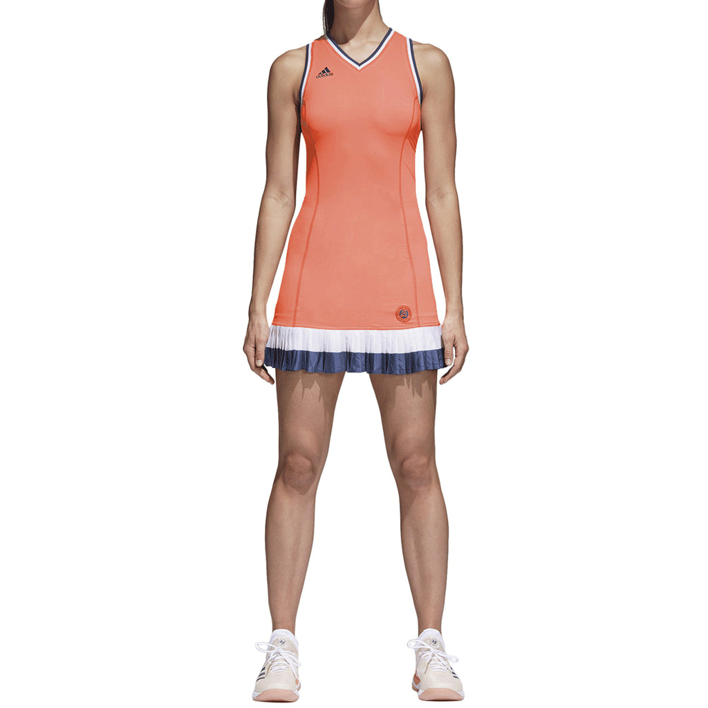 Adidas Originals Ronald Garros Women's Tennis Dress Chalk Coral