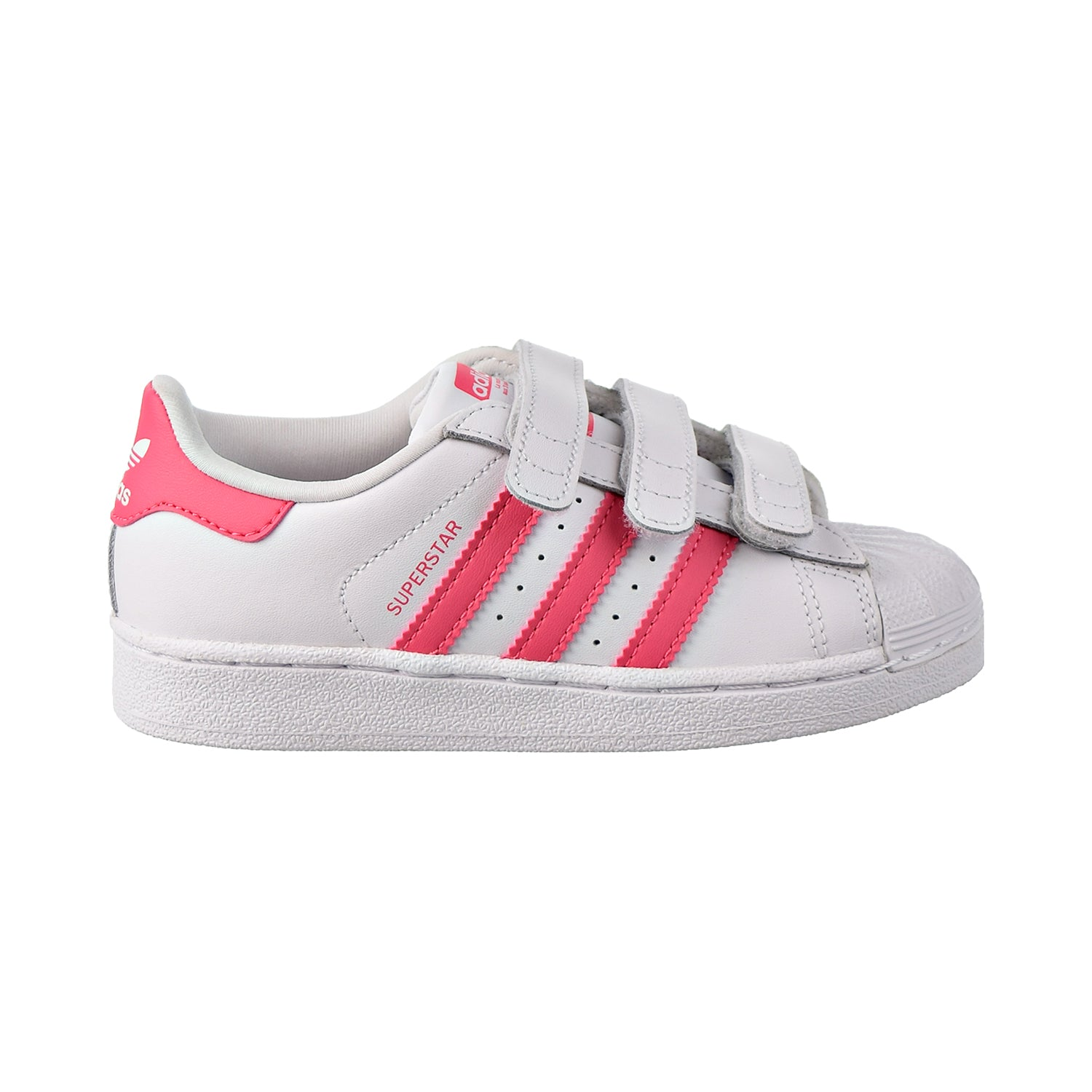 Adidas Superstar CF C Little Kids Shoes Footwear White/Real Pink/Real Pink
