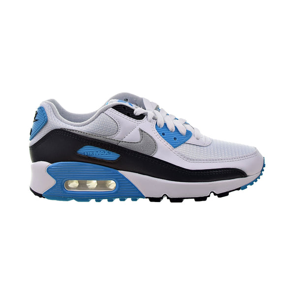 Nike Air Max 90 Men's Shoes White-Black-Grey-Laser Blue
