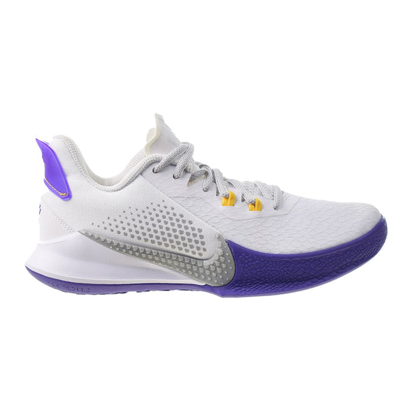 "Nike Mamba Fury ""Lakers Home"" Men's-Big Kids' Shoes White-Light Smoke Grey"