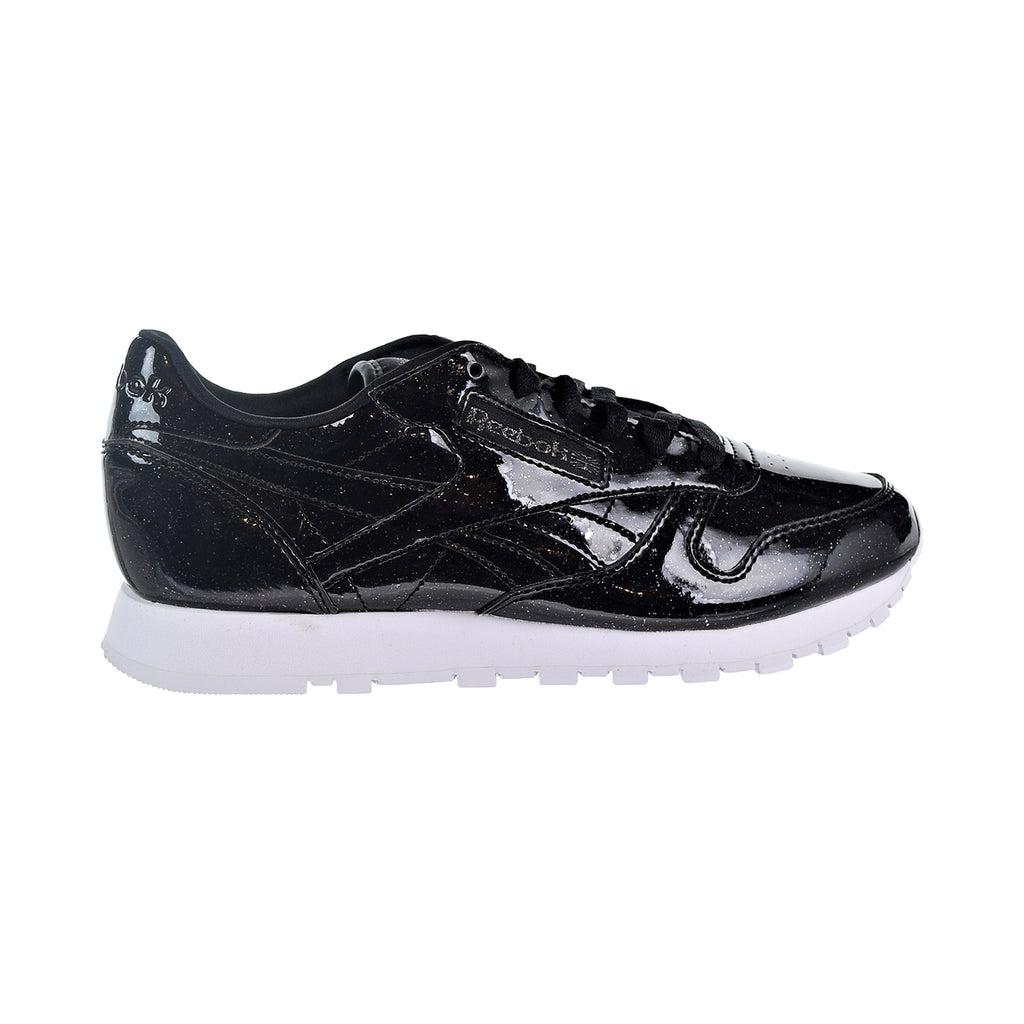 Reebok CL Leather PP Patent Pearl Women's Shoes Pearl Black/White