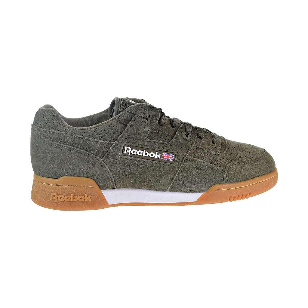 Reebok Workout Plus SG Unisex Shoes Army Green/White/Gum