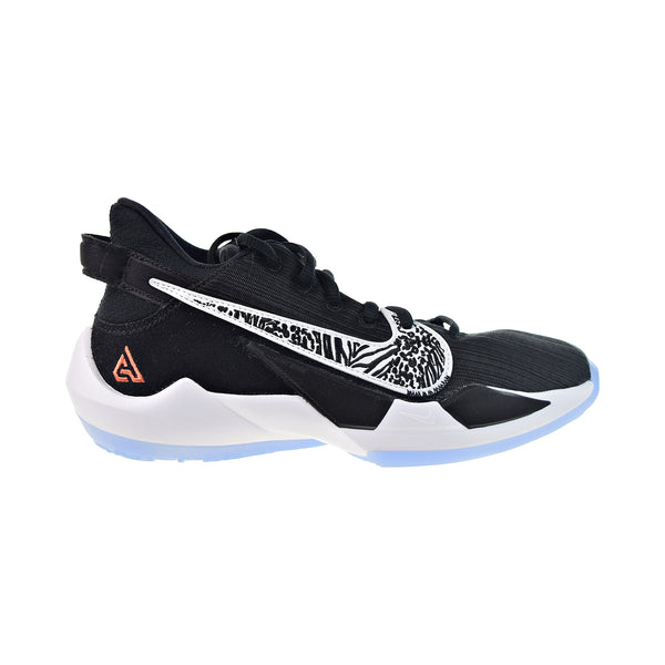Nike Freak 2 GS Big Kids' Basketball Shoes Black-White-Solar Flare-Off Noir