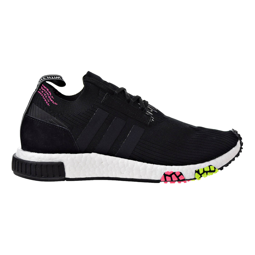 Adidas NMD_Racer Primeknit Men's Running Shoes Core Black/Core Black/Solar Pink