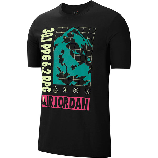 Jordan Winter Utility Men's T-Shirt Black-Neon-Pink