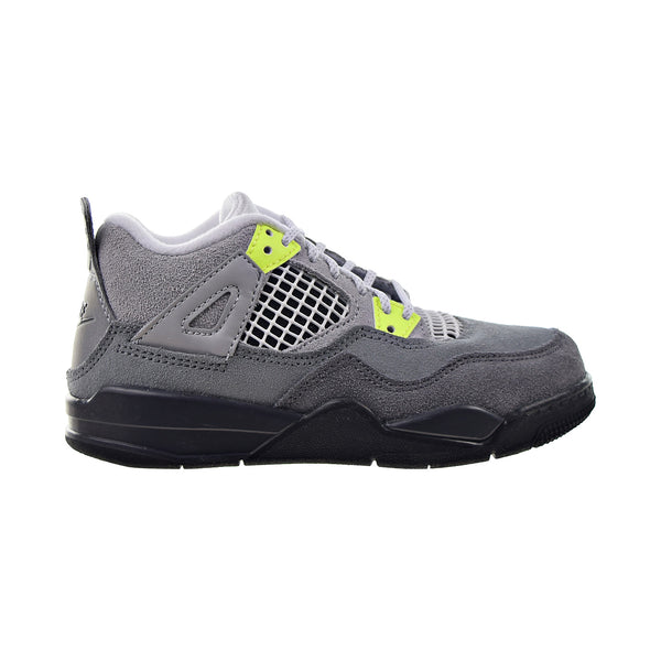 "Air Jordan 4 Retro ""95 Neon"" Little Kids' Shoes Cool Grey-Wolf Grey"