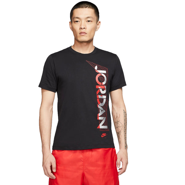 Air Jordan 5 Legacy Men's T-Shirt Black-Red-Silver