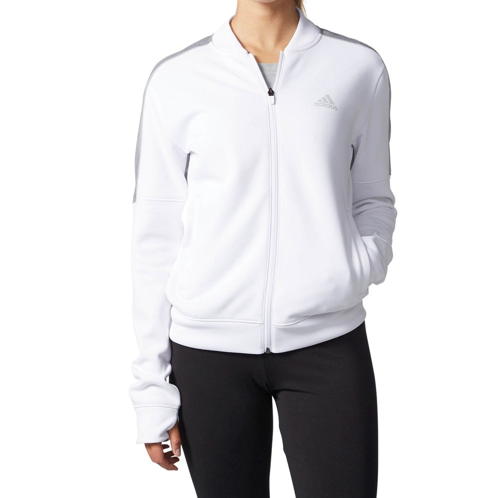 Adidas Women's Team Issue Full Zip Jacket White/Grey