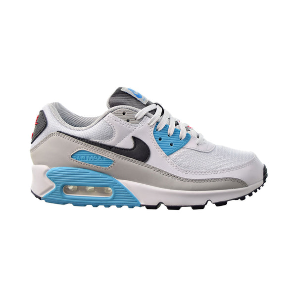 Nike Air Max 90 Men's Shoes White-Iron Grey-Chlorine Blue