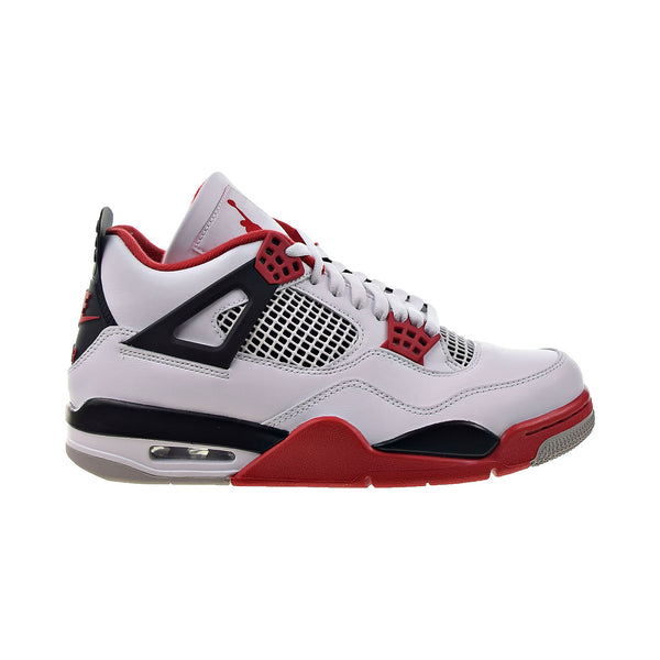 Air Jordan 4 Retro 'Fire Red' 2020 Men's Shoes White-Black-Tech Grey-Fire Red