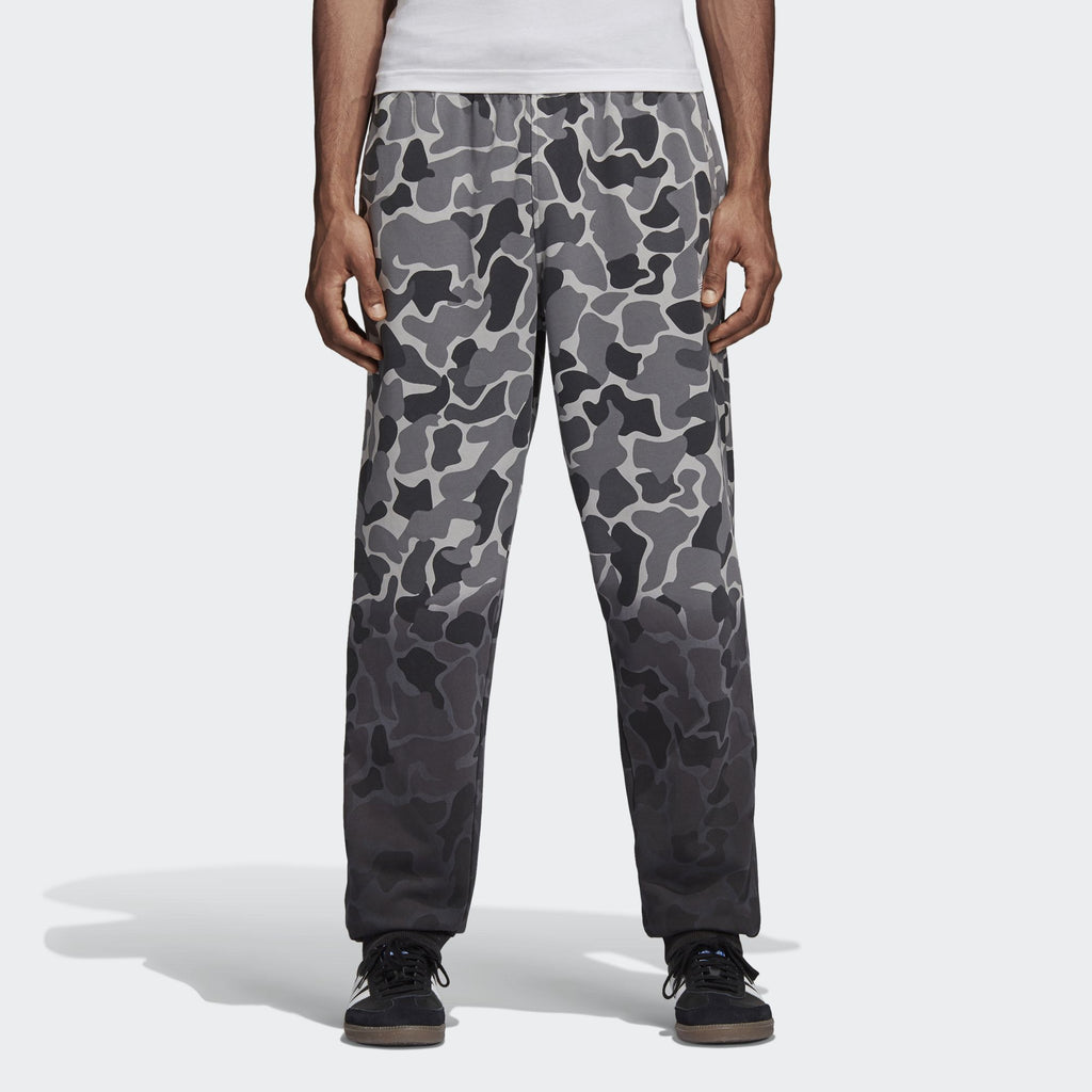 Adidas Men's Originals Camouflage Dip-Dyed Pants Gray Camo/Black