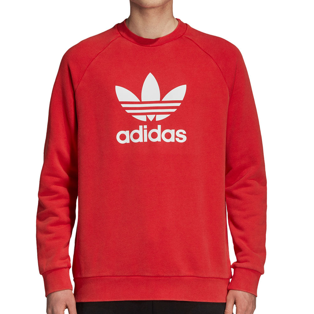 Adidas Originals Trefoil Warm Up Men's Sweatshirt Collegiate Red/White