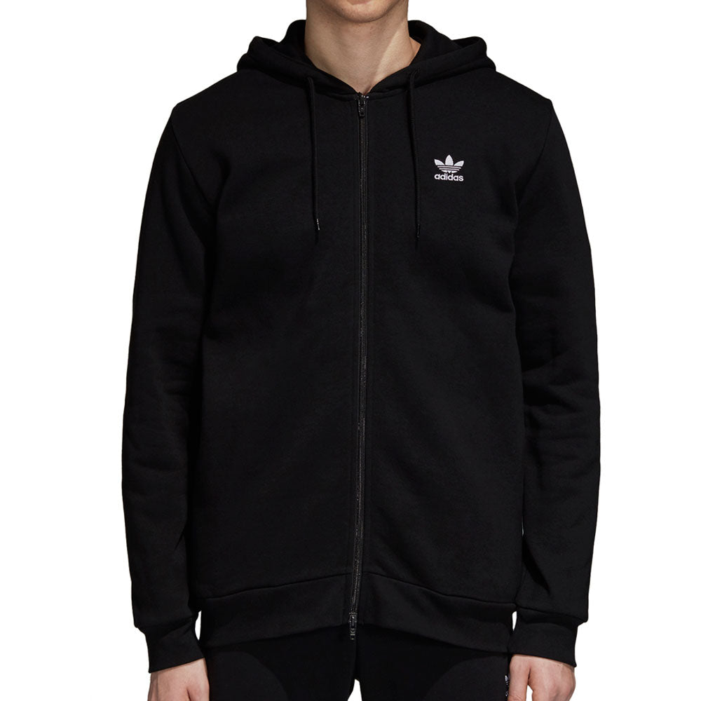 Adidas Originals Fleece Trefoil Men's Full Zip Hoodie Black/White