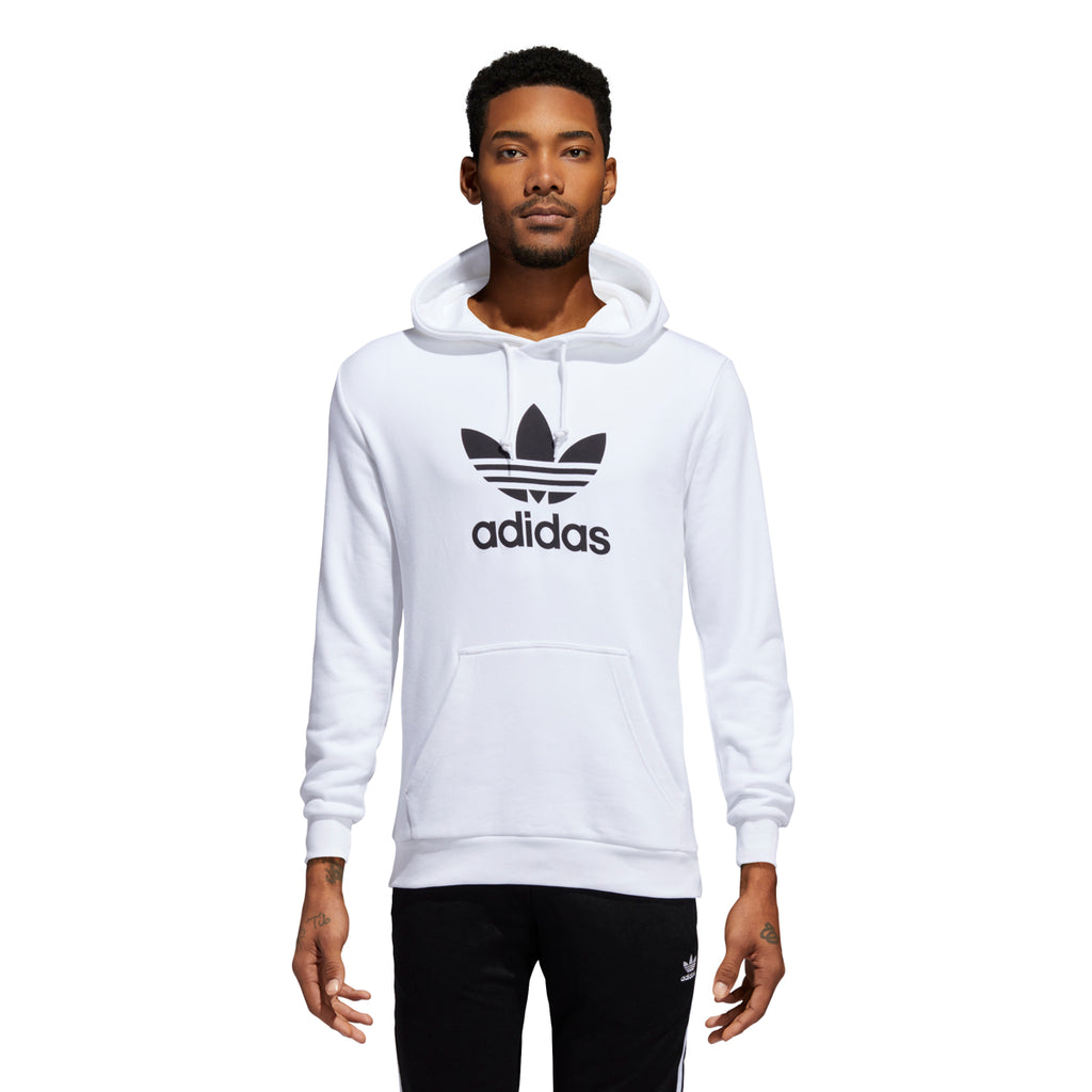Adidas Originals Men's Trefoil Hoodie White/Black
