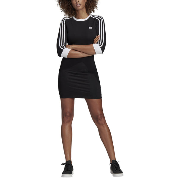 Adidas Women's 3 Stripes Dress Black