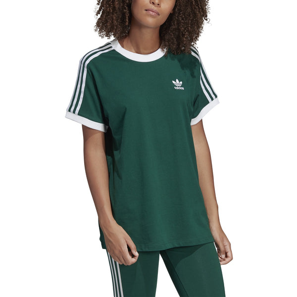 Adidas Women's 3 Stripes Tee Collegiate Green