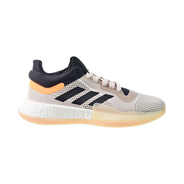 Adidas Marquee Boost Low Men's Basketball Shoes Linen-Core Black-Flash Orange