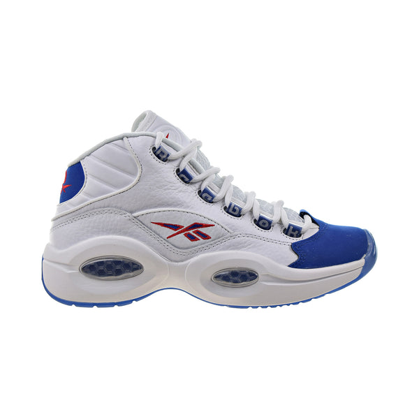 "Reebok Question Mid ""Double Cross"" Men's Shoes White-Collegiate Royal-Primal Red"