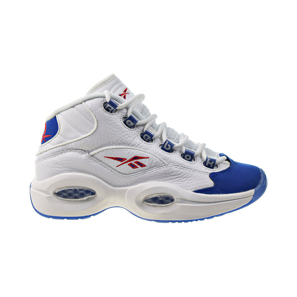 Reebok Question Mid Big Kids' Shoes White-Royal Red