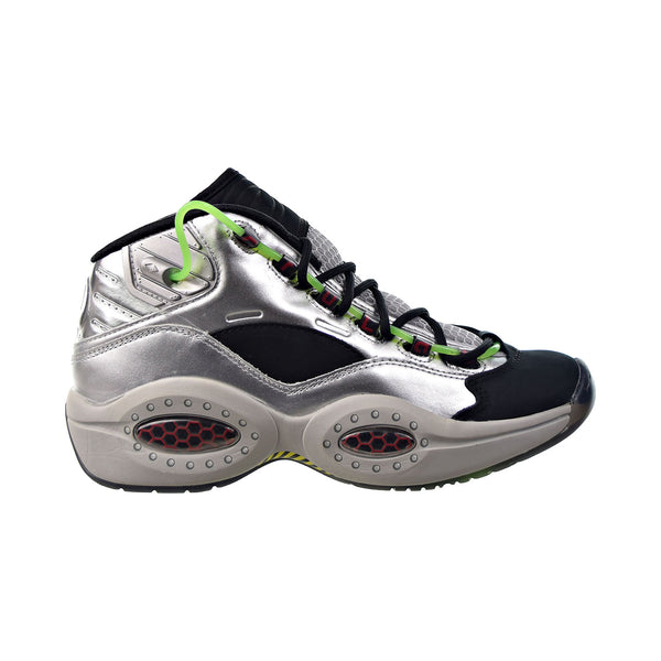 "Reebok Question Mid ""Minions Gru's Lab"" Men's Shoes Silver Metallic-Black"