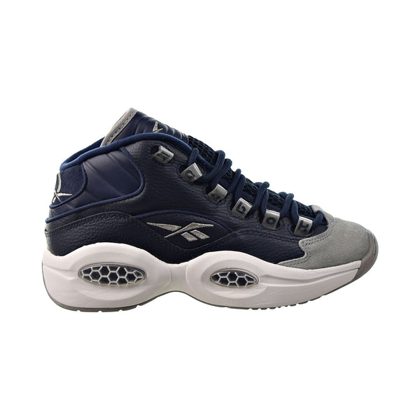 "Reebok Question Mid ""Georgetown"" Big Kids' Shoes Carbon-Faux Indigo-White"