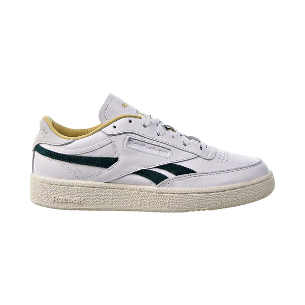 Reebok Club C Revenge Men's Shoes White-Gold Metallic-Forest Green