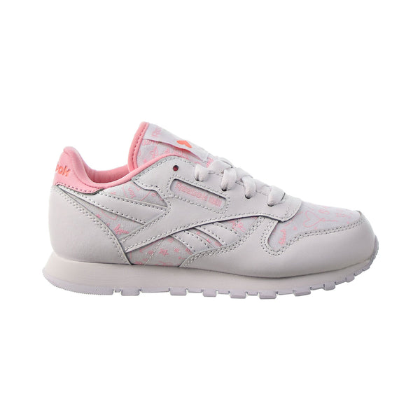 Reebok Classic Leather Little Kids' Shoes White-Pink Glow-Twisted Coral
