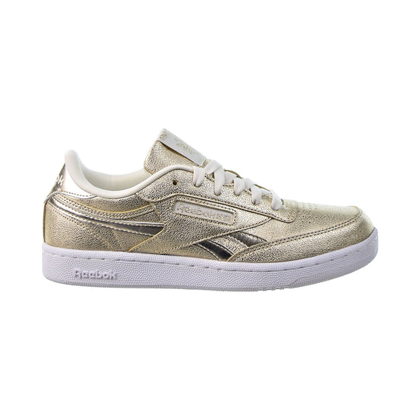 Reebok Club C Revenge Big Kids' Shoes Gold Metallic-Chalk-White