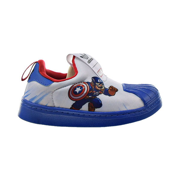 Adidas Superstar 360 Marvel Captain America Little Kids' Shoes White