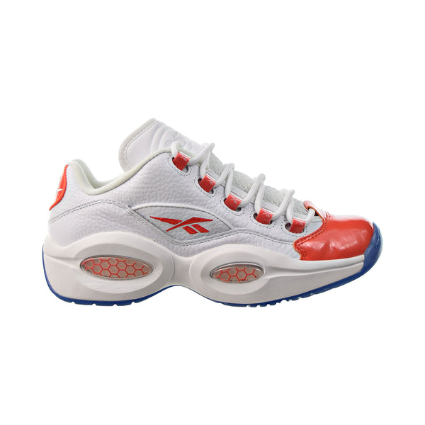 Reebok Question Low Patent Toe Orange Men's Shoes White-Vivid Orange-Reebok Ice