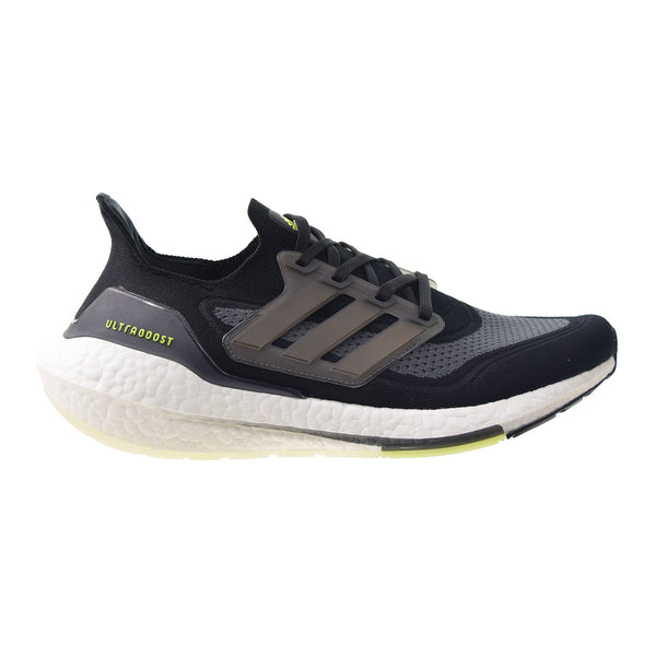Adidas Ultraboost 21 Men's Shoes Core Black-Silver Metallic-Solar Yellow